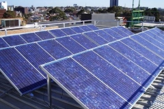 Solar panels at work in Melbourne.
